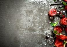 Καρπούζι chocktail με τη μέντα Στοκ Εικόνες