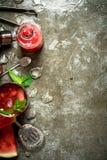 Καρπούζι chocktail με τη μέντα Στοκ Φωτογραφία