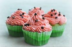 Καρπούζι Cupcakes στοκ φωτογραφία με δικαίωμα ελεύθερης χρήσης