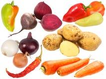 καρπούς που τίθενται τους νωπούς τα λαχανικά Στοκ φωτογραφία με δικαίωμα ελεύθερης χρήσης