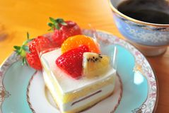 καρπός κέικ που φαίνεται α Στοκ Φωτογραφία