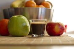Καρπός και καφές Στοκ Εικόνες