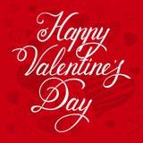 καρτών ημέρας σχεδίου dreamstime πράσινο καρδιών διάνυσμα βαλεντίνων απεικόνισης s τυποποιημένο Ευτυχής συρμένη χέρι εγγραφή ημέρ Στοκ Εικόνα