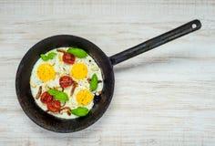 Καρυκευμένα τηγανισμένα αυγά Στοκ εικόνα με δικαίωμα ελεύθερης χρήσης
