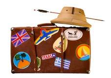 Καρυκευμένος αποσκευές ταξιδιώτης Στοκ φωτογραφία με δικαίωμα ελεύθερης χρήσης