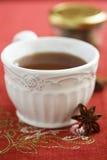 Καρυκευμένο τσάι με το αστέρι anice Στοκ φωτογραφία με δικαίωμα ελεύθερης χρήσης
