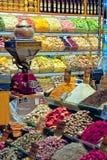 Καρυκεύματα για την πώληση στο καρύκευμα Bazaar στη Ιστανμπούλ Στοκ εικόνα με δικαίωμα ελεύθερης χρήσης