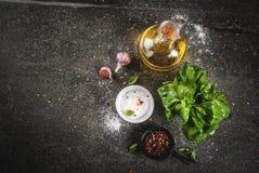 Καρυκεύματα για το μαγείρεμα του γεύματος Στοκ Φωτογραφίες