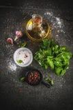 Καρυκεύματα για το μαγείρεμα του γεύματος Στοκ φωτογραφία με δικαίωμα ελεύθερης χρήσης