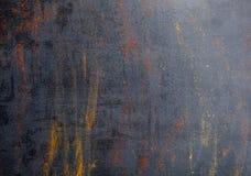 Καρυκεύματα ζωηρόχρωμα καρυκεύματα Κάρρυ, σαφράνι, turmeric, κανέλα και otheron ένα σκοτεινό συγκεκριμένο υπόβαθρο Πιπέρι Μεγάλη  Στοκ Φωτογραφία
