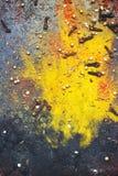 Καρυκεύματα - κάρρυ, σκόνη πάπρικας και γαρίφαλο στο σκοτεινό υπόβαθρο  FO Στοκ εικόνες με δικαίωμα ελεύθερης χρήσης