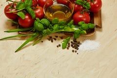 καρυκεύματα ντοματών λαχανικών στοκ εικόνες