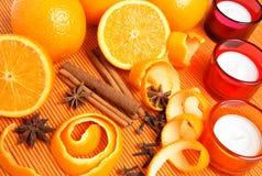 καρυκεύματα πορτοκαλιώ Στοκ Εικόνα