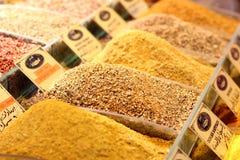 Καρυκεύματα στη Ιστανμπούλ Bazaar, καρύκευμα Bazaar Στοκ εικόνες με δικαίωμα ελεύθερης χρήσης
