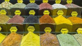 Καρυκεύματα στο arasta bazaar, Τουρκία, Κωνσταντινούπολη Στοκ Εικόνες