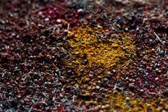 Καρυκεύματα υποβάθρου σύστασης καρυκευμάτων για το κρέας στοκ φωτογραφίες με δικαίωμα ελεύθερης χρήσης