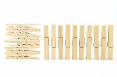 καρφίτσα ενδυμάτων ξύλινη Στοκ φωτογραφία με δικαίωμα ελεύθερης χρήσης