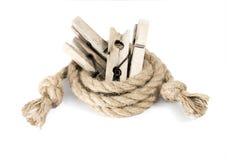 καρφίτσα ενδυμάτων ξύλινη Στοκ εικόνα με δικαίωμα ελεύθερης χρήσης