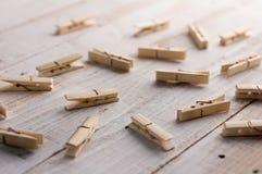 καρφίτσα ενδυμάτων ξύλινη Στοκ Εικόνα