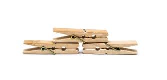 καρφίτσα ενδυμάτων ξύλινη Στοκ Εικόνες