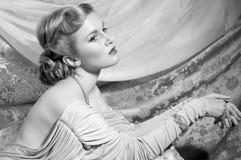 καρφίτσα-επάνω πλάνο ύφους της δεκαετίας του '40 στοκ εικόνες με δικαίωμα ελεύθερης χρήσης