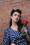 Καρφίτσα επάνω στο κορίτσι Στοκ φωτογραφίες με δικαίωμα ελεύθερης χρήσης