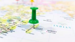 Καρφίτσα και χάρτης Στοκ εικόνα με δικαίωμα ελεύθερης χρήσης
