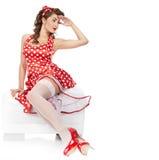 καρφίτσα κοριτσιών επάνω Στοκ φωτογραφία με δικαίωμα ελεύθερης χρήσης