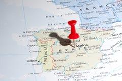 καρφίτσα χαρτών της Μαδρίτη&sig Στοκ Εικόνες