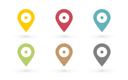 Καρφίτσα χαρτών χρώματος με το σημείο ελεύθερη απεικόνιση δικαιώματος