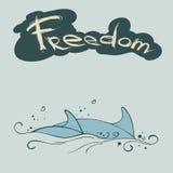 Καρφίτσα δύο δελφινιών Διανυσματική απεικόνιση