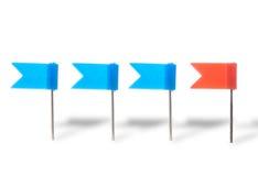 καρφίτσες σημαιών χρώματο&sig Στοκ Φωτογραφία