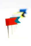 καρφίτσες σημαιών Στοκ Φωτογραφία