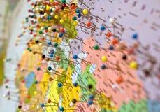καρφίτσες χαρτών Στοκ εικόνες με δικαίωμα ελεύθερης χρήσης
