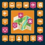 Καρφίτσες χαρτών Στοκ Εικόνες