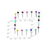 Καρφίτσες χρώματος. Διανυσματική απεικόνιση Στοκ φωτογραφία με δικαίωμα ελεύθερης χρήσης