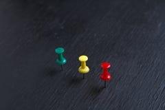 Καρφίτσες χρώματος Στοκ Εικόνα