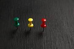 Καρφίτσες χρώματος Στοκ εικόνες με δικαίωμα ελεύθερης χρήσης
