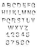 καρφί καρφιών αλφάβητου Στοκ Φωτογραφία
