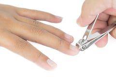 Καρφί των μέσων αποκομμάτων δάχτυλων Στοκ φωτογραφία με δικαίωμα ελεύθερης χρήσης