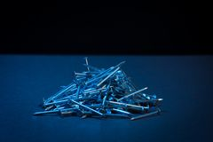 καρφιά σιδήρου Στοκ Φωτογραφία