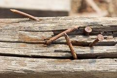 καρφιά σκουριασμένα Στοκ εικόνα με δικαίωμα ελεύθερης χρήσης