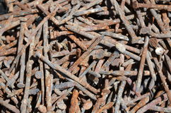 καρφιά σκουριασμένα Στοκ φωτογραφία με δικαίωμα ελεύθερης χρήσης