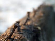 καρφιά σκουριασμένα Στοκ φωτογραφίες με δικαίωμα ελεύθερης χρήσης