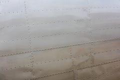 Καρφιά στο δέρμα αεροσκαφών Στοκ Φωτογραφίες