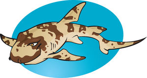 καρχαρίας κινούμενων σχεδίων μπαμπού διανυσματική απεικόνιση