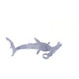 καρχαρίας κινούμενων σχεδίων hammerhead με τη σκεπτόμενη φυσαλίδα Στοκ εικόνα με δικαίωμα ελεύθερης χρήσης