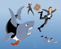 Καρχαρίας μεγάλης επιχείρησης Απεικόνιση αποθεμάτων