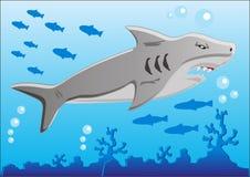 καρχαρίας υποβρύχιος διανυσματική απεικόνιση