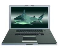 καρχαρίας υπολογιστών Στοκ φωτογραφία με δικαίωμα ελεύθερης χρήσης